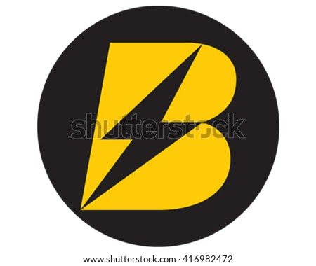 Abstract Bolt. Letter B logo.