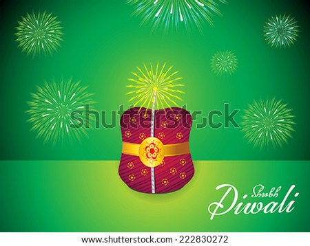 abstract bomb exploding in green background vector illustration - stock vector