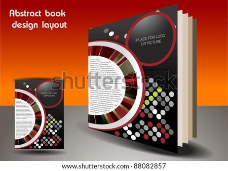 Abstract book cover design - stock vector