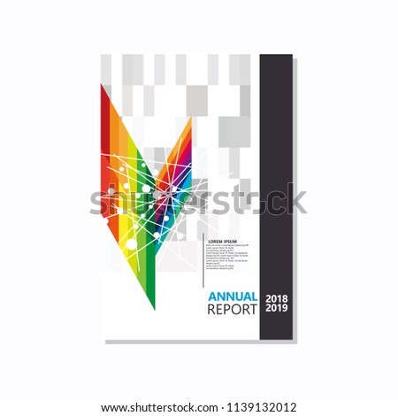 abstract book covermodern annual reportbrochuremodern design stock