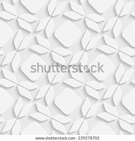 Abstract Bow Pattern. Seamless White Background - stock vector