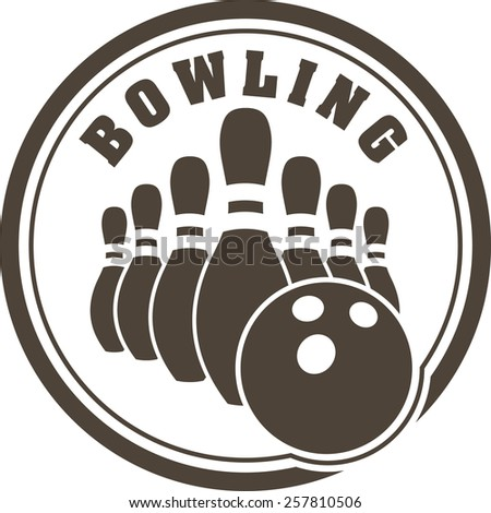 Abstract bowling design - stock vector