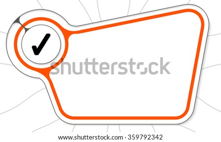 Abstract box with an internal frame for your text and check box - stock vector