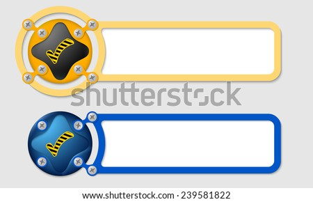 abstract boxes for any text and check box - stock vector