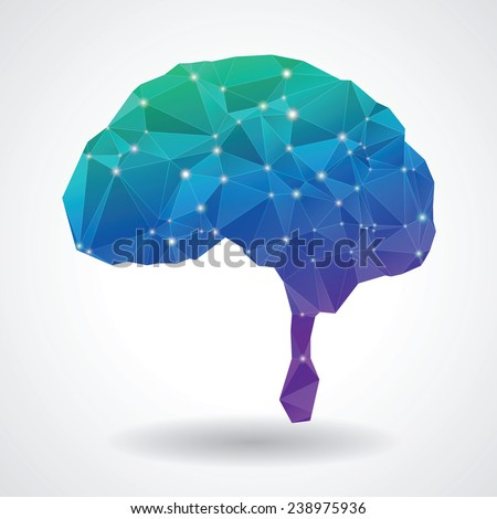 Abstract brain polygon