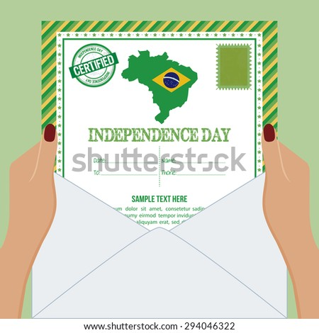 Abstract Brazil independence day background with some special objects