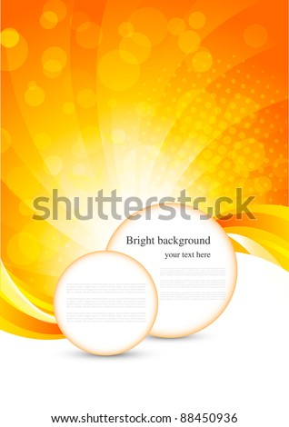 Abstract bright background - stock vector