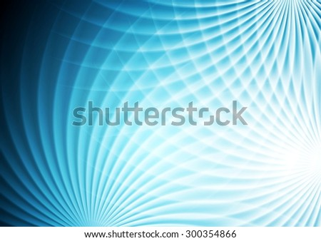 Abstract bright blue background. Vector design - stock vector