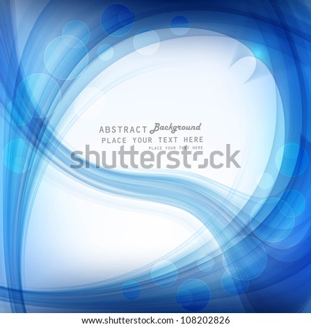 abstract bright blue colorful wave vector design