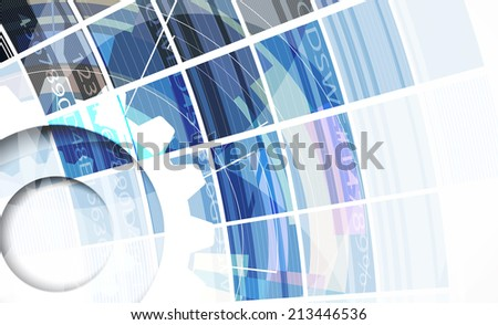 abstract bright blue cube vector technology background. computer integration - stock vector