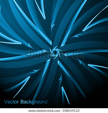 abstract bright blue texture swirl retro background vector