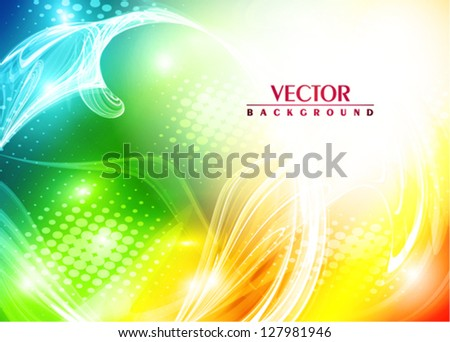 Abstract bright colorful card. Vector - stock vector