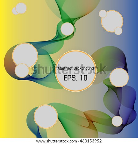 Abstract bright colorful wavy lines. Colorful vector background
