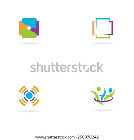 Abstract bright colors  logo  - Vector Illustration, easy editable for your design. Business Logo - stock vector