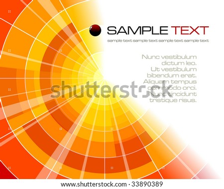 Abstract bright composition - vector illustration - stock vector