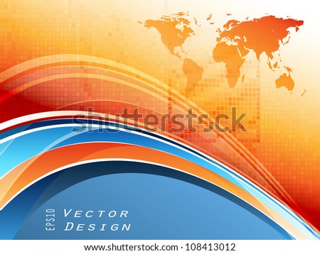 abstract bright corporate vector frame. Eps10 - stock vector