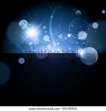 Abstract bright Galaxy night background with stars and lights - stock vector