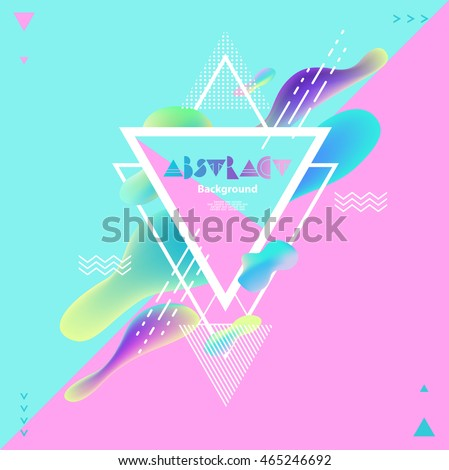 Abstract bright geometric background - stock vector