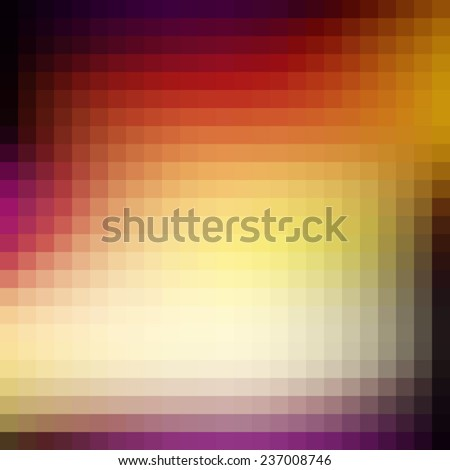 Abstract bright mosaic pattern textured by squares. Vector - stock vector