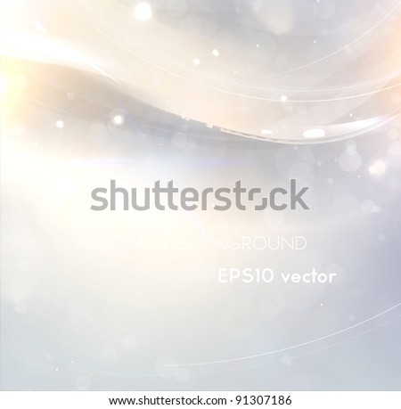 Abstract bright shine background with free place for text - stock vector