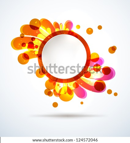 Abstract bright splash with a round placeholder. EPS10 vector. - stock vector