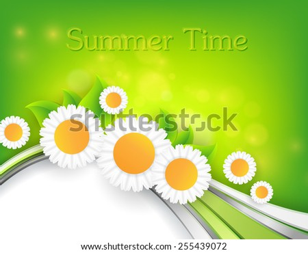abstract  bright summer vector background with copy space . Eps10 - stock vector