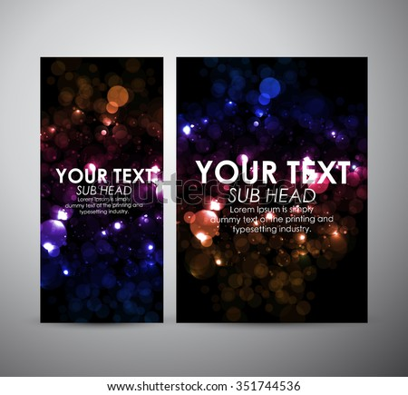 Abstract brochure colorful bokeh. business design template or roll up. Vector illustration - stock vector