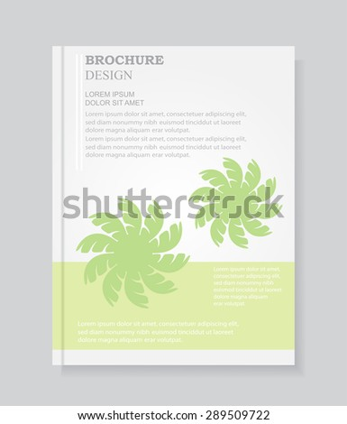 Abstract brochure design.Cover design vector template.