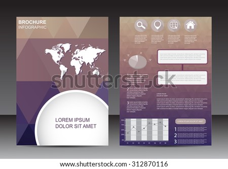 Abstract brochure design. Flyer with infographic vector elements.Vector template.