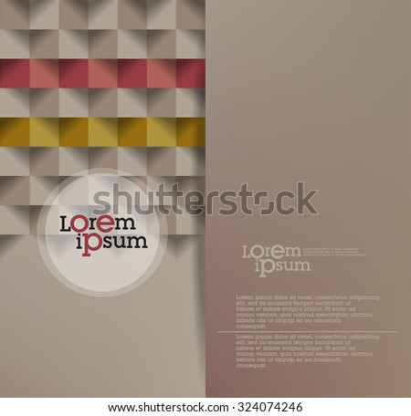 Abstract brochure design. Vector Flyer - stock vector