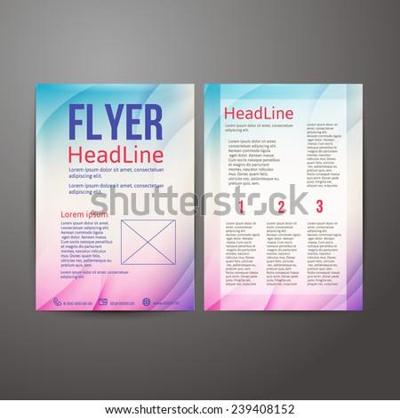 Abstract  Brochure Flyer design template.  vector illustration - stock vector