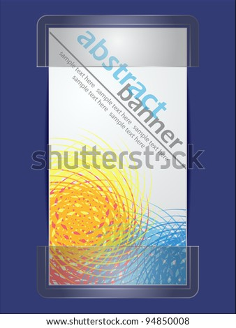 abstract brochure in glass holder - stock vector