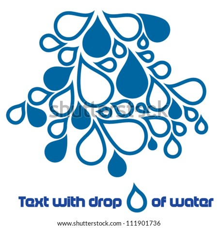 Abstract brochure with drops of water - stock vector