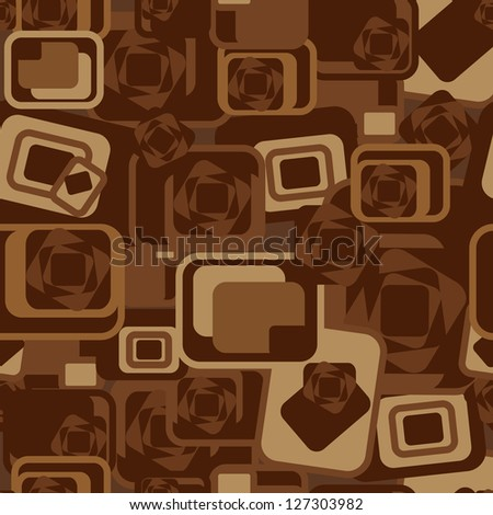 abstract brown background with geometric shapes pattern - stock vector
