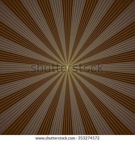 Abstract brown burst vector background. - stock vector