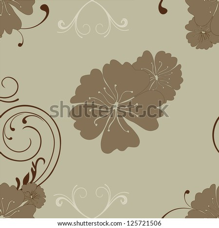 Abstract brown floral background. EPS 10.