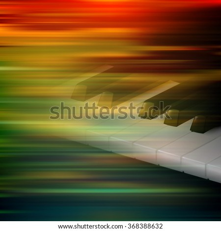 abstract brown motion blur background with piano keys - stock vector