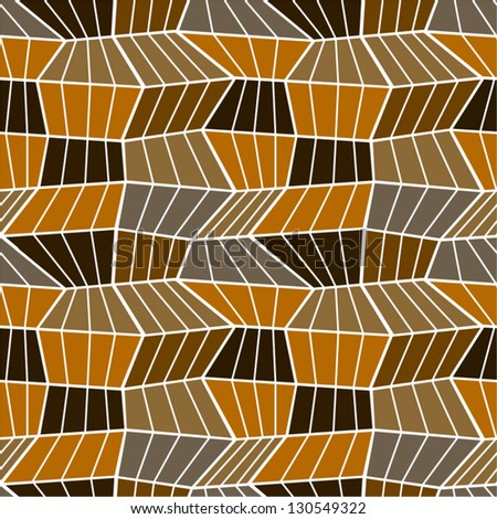 Abstract brown seamless pattern. - stock vector