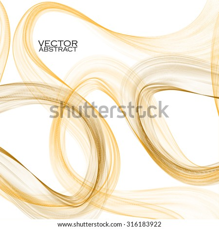 Abstract brown waves on white background. Vector illustration. Eps 10