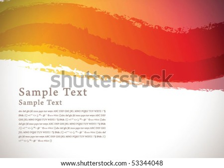 abstract brush background 03 - stock vector