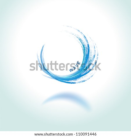 abstract brushwok background vector wave water - stock vector