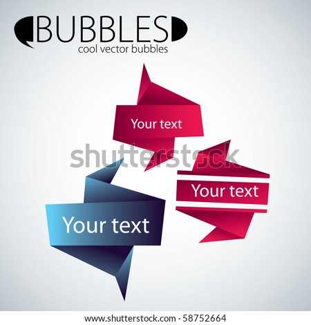 abstract bubbles - stock vector