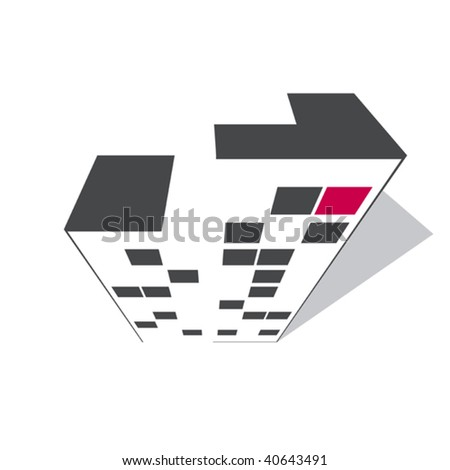 abstract building - stock vector