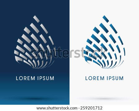 Abstract  building, Architecture,drop water ,logo, symbol, icon, graphic, vector. - stock vector