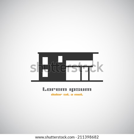 Villa stock vectors vector clip art shutterstock for Modern house logo