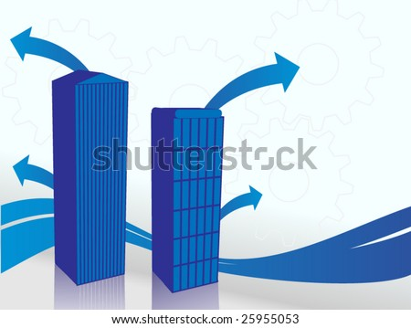 Abstract Buildings (blue edition) - stock vector