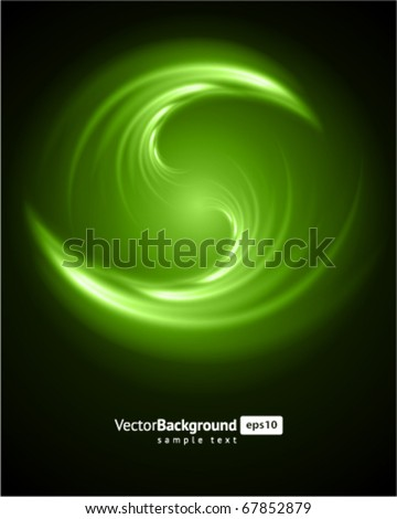 Abstract burn fractal vector background - stock vector