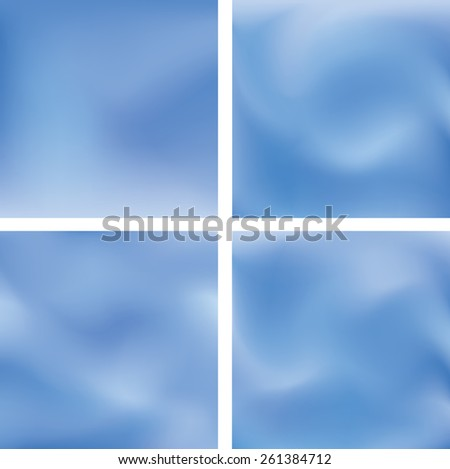 Abstract burred background set. Website vector pattern collection. - stock vector