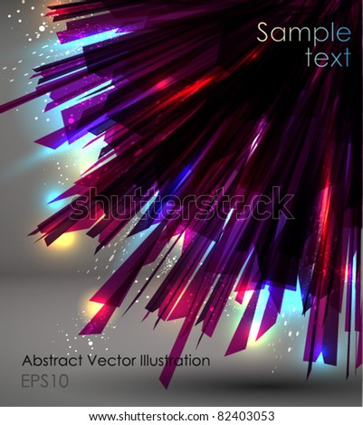 Abstract burst Background. - stock vector