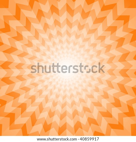 Abstract Burst Background - No Transparencies - stock vector